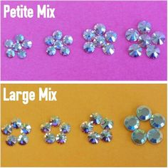Swarovski Crystal Clear AB Mix (Petite or Large Mix) MyPrettyPieces.com & MyPrettyPieces.net