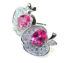 $38.50 Awesome Pink Kunzite Sterling Silver earrings at www.SilverRushStyle.com #earrings #handmade #jewelry #silver #kunzite