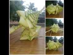 How to make plam heart stick(used Coconut tree leaf) - YouTube