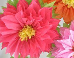 HAPPY SUNFLOWERS. 5 Giant Paper Flowers yellow wedding