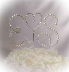 Hey, I found this really awesome Etsy listing at https://www.etsy.com/listing/200131843/set-of-2-beaded-cake-toppers-beaded-wire