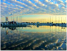 Beautiful cloud reflections on Lake St. Clair.