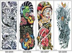 Body Art Tattoos Full Arm Waterproof Tattoos Temporary Tattoos Water Transfer…
