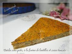 Gourmande sans gluten: Quiche sans pâte à la farine de lentilles, sauce t...