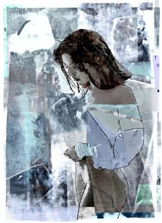 "Saatchi Art Artist Robert Andler-Lipski; Collage, ""MASAKO"" #art"