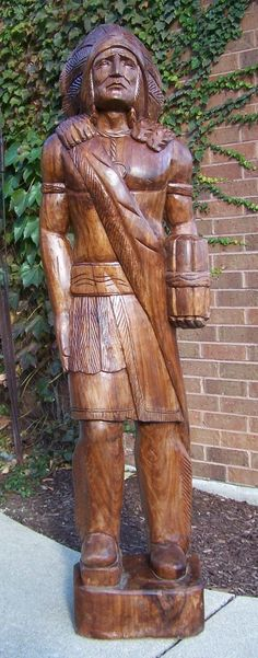 6 ft Cigar Store Indian Carved Wood Art#72h1107 Chief Scout not antique Blackhaw in Collectibles, Tobacciana, Other Tobacciana | eBay