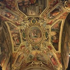 Ceiling in Blessed Sacrament chapel in St Augustine's church in #Rome. // Photo: Dr. Taylor Marshall on Instagram