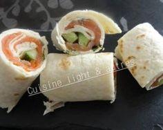 Wrap au saumon et au concombre par Cuisine light & autres