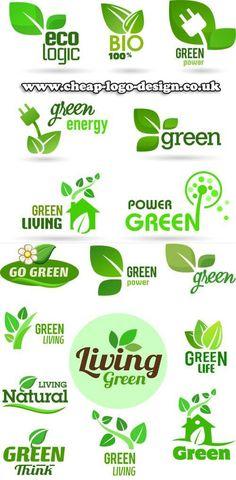 eco green logo design ideas www.cheap-logo-design.co.uk #eco #green #greenlogos: