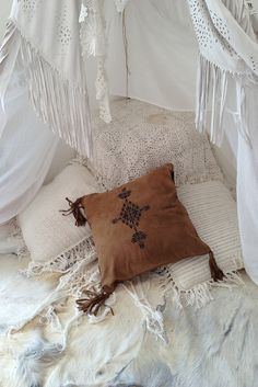 Southwest Suede Cushion Cover - Tan