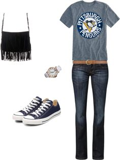 """""""Casual Pittsburgh Penguins Game"""" by hawks88 on Polyvore"""