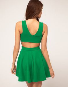 ShopStyle: ASOS Skater Dress with Open Back