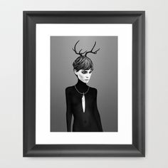 The Cold  Framed Art Print by Ruben Ireland - $35.00