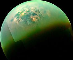 Titan Seas Reflect Sunlight