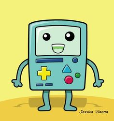 BMO - Adventure Time Bart Simpson, Adventure Time, My Favorite Things, Logos, Illustration, Fictional Characters, Illustrations, Finn Jake, A Logo