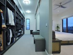 Image result for closet behind bed