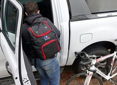 The BLS VeloRacing Backpack is a compact cycling race day backpack handmade in Cape Town, South Africa. Be Organized, Cycling Bag, Day Backpacks, Race Day, Golf Bags, All In One, Helmet, Delivery, Shopping