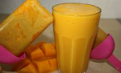 Mango Ice Pops   ngredients:  1 mango  1 banana  ½ cup coconut milk/water  ½ cup of ice       Directions:    1.)    Peel and chop the mango and banana.    2.)    Blend all the ingredients together.    3.)    ENJOY as a smoothie or follow step 4.    4.)    Pour into an ice block/pop  container  and freeze overnight.