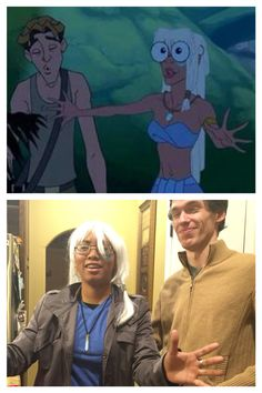 My sister insisted we do this    #Disney #Atlantis #Cosplay #Halloween
