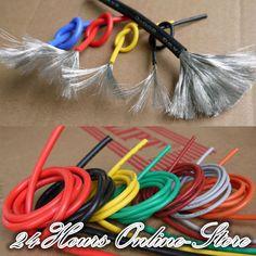 24 AWG de Alambre de Silicona Flexible RC Cable 24AWG 40/0. 08TS Exterior Diámetro 1.5mm Con 10 Colores para Elegir