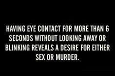 On eye contact.