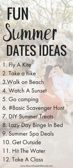 cheap summer date ideas, date ideas for when you're broke, cheap or free summer date ideas for couples