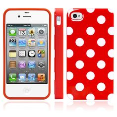 iPhone 4 Case, MagicMobile Ultra Thin Cute Slim TPU Rubber Gel Polka Dot [SLIM-FIT] Case Cover for iPhone 4 / 4S [ Red - White ]. The Magic Mobile for Apple iPhone 4 4s Polka Dot Case provides full protection in the back and sides of the phone. Product made with special TPU material which cannot be broken when twisted. Really easy and fast to insert the phone; has perfect holes for the charger, the headphones and the camera. Product is made of high quality keeping the phone safe and free…