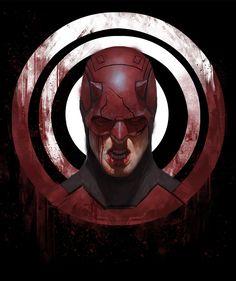 """""""Daredevil"""" by Aaron Bartling Marvel Villains, Marvel Comics Art, Marvel Comic Universe, Marvel Cinematic Universe, Comic Book Characters, Marvel Characters, Comic Character, Comic Movies, Character Design"""