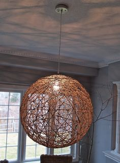 DIY pendant light-to make for the dining room with tutorial.