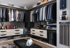 Modern Italian design at it's best. This Finesse closet shows the newest trend in closet design. #closetfactory #Finesse