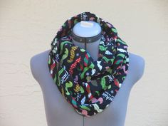 Staching thru the snow Infinity Scarf by AquamarCouture on Etsy