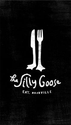 restaurant logo: Silly Goose Logo @Ashley Walters Heptig Eat here!!! Coolest logo ever!