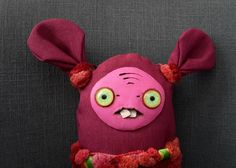 Unique gift handmade fabric rag doll - Claret by SzyszkaDolls on Etsy Unique Gifts, Handmade Gifts, Rag Dolls, Christmas Ornaments, Holiday Decor, Artwork, Fabric, How To Make, Etsy