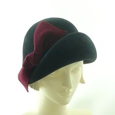 Gray Cloche Hat for Women   Handmade Vintage by TheMillineryShop, $270.00