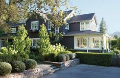 Tour a rebuilt and refreshed California home damaged by fire - beautiful exterior