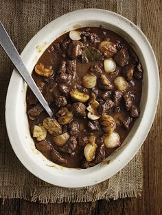 Classic, easy beef bourguignon to eat now or freeze for later, this French inspired recipe serves 8 people.