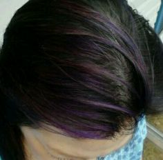 This is purple streaks of sharpie marker :)