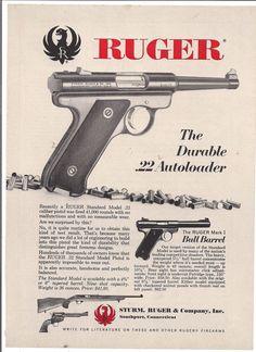 1960's Vintage Ruger 22 Cal Autoloader Gun Ad   eBay