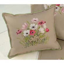 Cushion With Pink Flowers