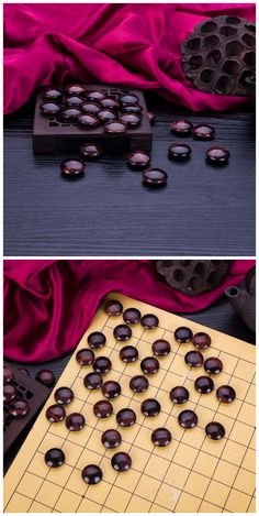 Natural red tiger eye stone beads for go game, weiqi game, board game, I-go. Double sides: 22x10mm