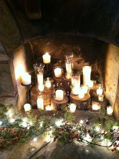 Candle Fireplace Insert the old window could cover an ugly unused fireplace insert | our