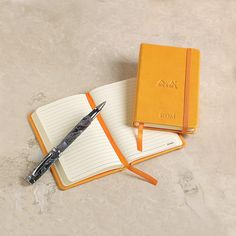 "Rhodia's popular ""Webbie"" journal  Featuring 192 pages of delicious, fountain pen-friendly 90-gram Clairfontaine paper, this trusty ruled pocket journal notebook (aka ""Webbie"") by Rhodia is bound to become a favorite."