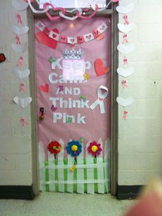 breast cancer awareness week door decorating contest - Breast Cancer Decorations