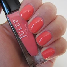 2012 Julep nail polish, color: Sasha (hot cantaloupe color) From the first Julep kit I ever bought for my steppie) :)