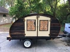 Picture Of Reclaimed Wood Micro Teardrop Trailer