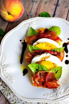 Summer Fave: Peach Prosciutto Caprese with Honied Balsamic Vinegar