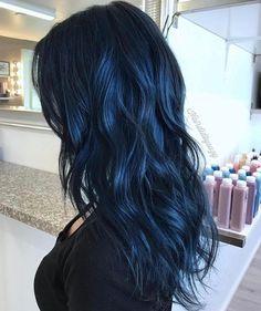 Midnight Blue Hair Navy Color Purple