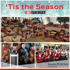 Celebrating the holidays at Purina with gifts for our near and dear Southside neighborhood in St. Louis, a music performance by Purina's Data Tones, remarks from our CEO and catered lunch!