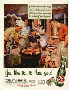1954 7-Up cookout ad