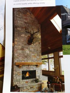 2 Story Stone Fireplace Field Stone Fireplace Custom Rustic Mantel with Corbells Wood Burning Fireplace Raised Stone Hearth Stone Fireplace Mantles, Two Story Fireplace, Stone Veneer Fireplace, Stacked Stone Fireplaces, Rustic Fireplaces, Fireplace Design, Fireplace Ideas, Rustic Mantel, Wood Mantle